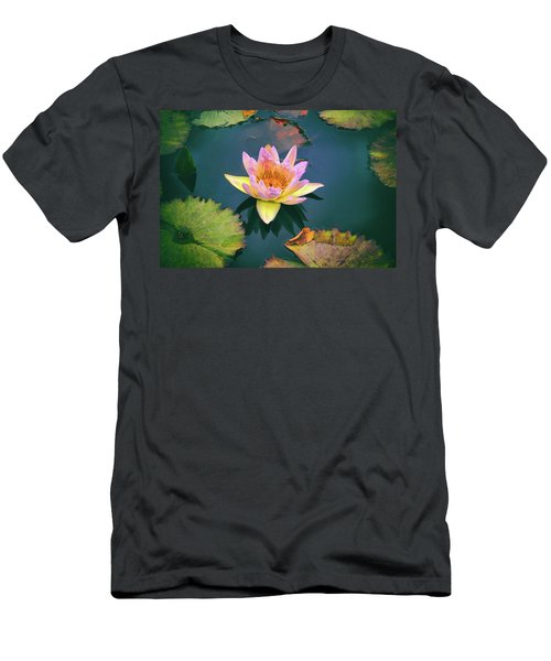 Autumn Waterlily Men's T-Shirt (Athletic Fit)