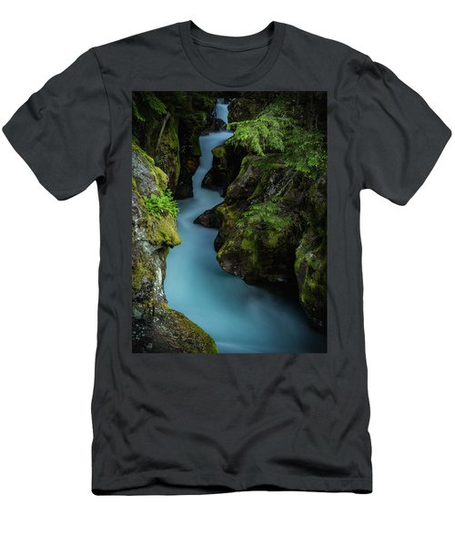 Avalanche Creek- Glacier National Park Men's T-Shirt (Athletic Fit)