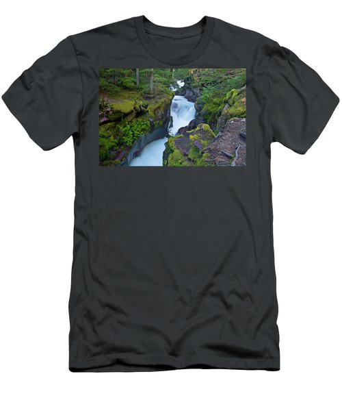 Men's T-Shirt (Athletic Fit) featuring the photograph Avalanche Gorge 7 by Gary Lengyel