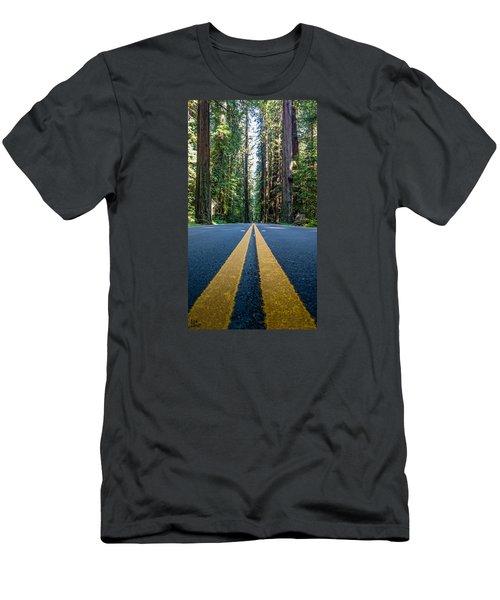 Avenue Of The Giants Men's T-Shirt (Slim Fit) by Alpha Wanderlust
