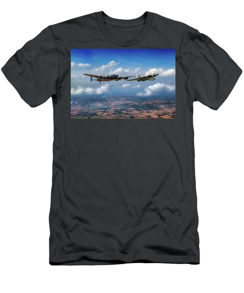 Men's T-Shirt (Athletic Fit) featuring the photograph Avro Sisters  by Gary Eason