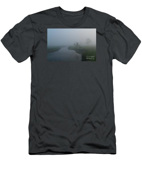 Axe In The Mist Men's T-Shirt (Slim Fit) by Gary Bridger