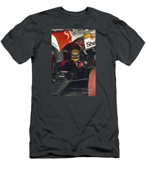 Ayrton Senna. 1990 Italian Grand Prix Men's T-Shirt (Athletic Fit)
