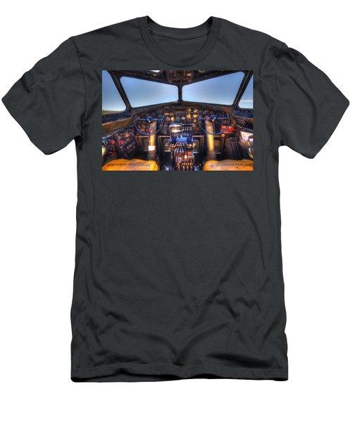 B-17 Cockpit Men's T-Shirt (Athletic Fit)
