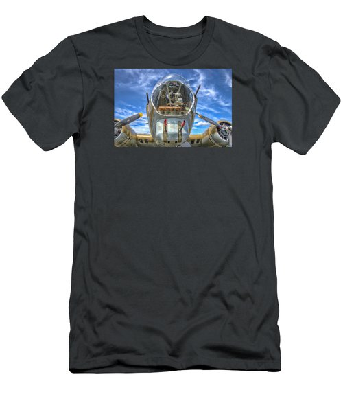 Men's T-Shirt (Slim Fit) featuring the photograph B 17 Up Close by Gary Slawsky