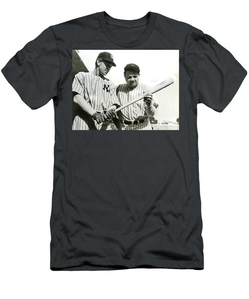 Babe Ruth And Lou Gehrig Men's T-Shirt (Slim Fit) by Jon Neidert