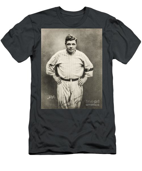 Babe Ruth Portrait Men's T-Shirt (Slim Fit)
