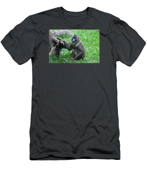 Men's T-Shirt (Slim Fit) featuring the photograph Baboon by Monte Stevens