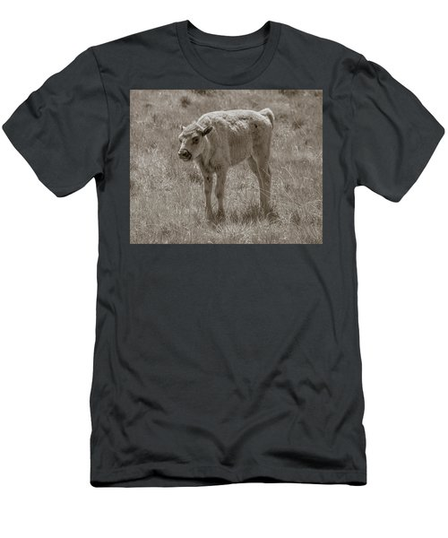Men's T-Shirt (Slim Fit) featuring the photograph Baby Buffalo by Rebecca Margraf
