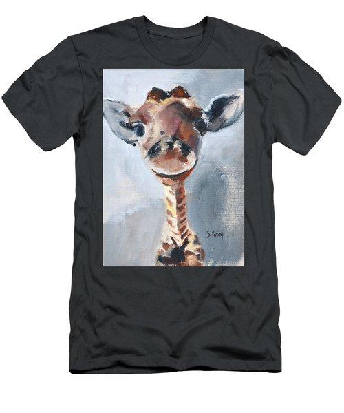 Baby Giraffe Safari Animal Painting Men's T-Shirt (Athletic Fit)