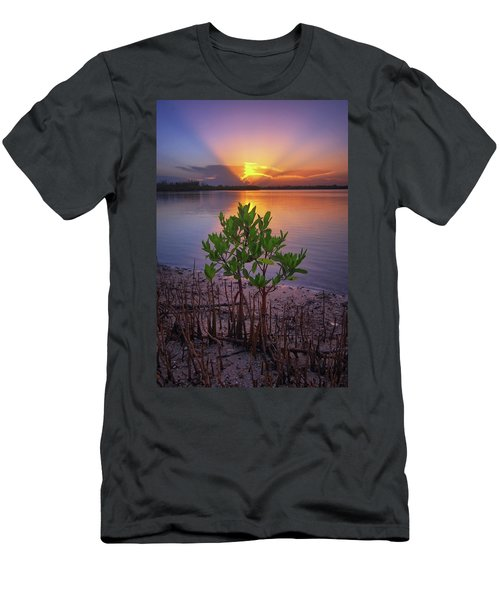 Baby Mangrove Sunset At Indian River State Park Men's T-Shirt (Athletic Fit)