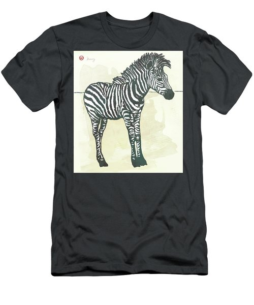 Baby Zebra - Stylised Pop Art Poster Men's T-Shirt (Athletic Fit)
