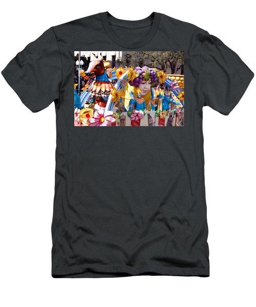 Bacchus Mardis Gras Float Men's T-Shirt (Slim Fit) by Carol M Highsmith