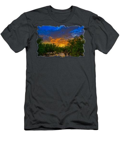 Back Alley Sunset H35 Men's T-Shirt (Athletic Fit)