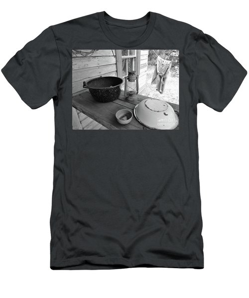 Back In Time B - W Men's T-Shirt (Athletic Fit)