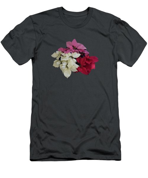 Men's T-Shirt (Slim Fit) featuring the photograph Background Choice-pointsettias by R  Allen Swezey