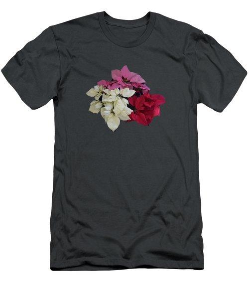 Background Choice-pointsettias Men's T-Shirt (Athletic Fit)