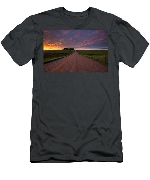 Men's T-Shirt (Slim Fit) featuring the photograph Backroad To Heaven  by Aaron J Groen