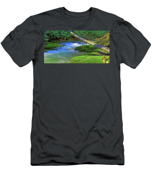 Backwoods Stream Men's T-Shirt (Athletic Fit)