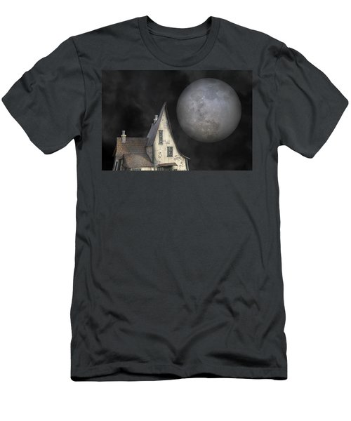 Backyard Moon Super Realistic  Men's T-Shirt (Athletic Fit)