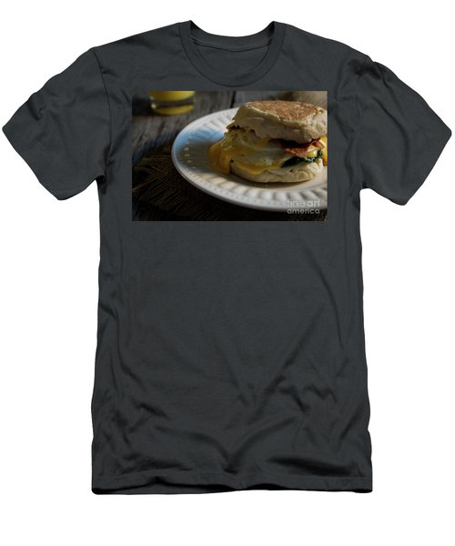 Men's T-Shirt (Slim Fit) featuring the photograph Bacon And Cheese by Deborah Klubertanz