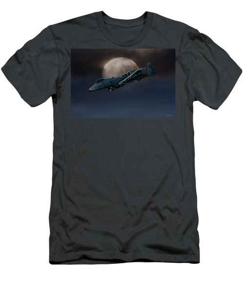 Men's T-Shirt (Slim Fit) featuring the digital art Bad Moon by Peter Chilelli