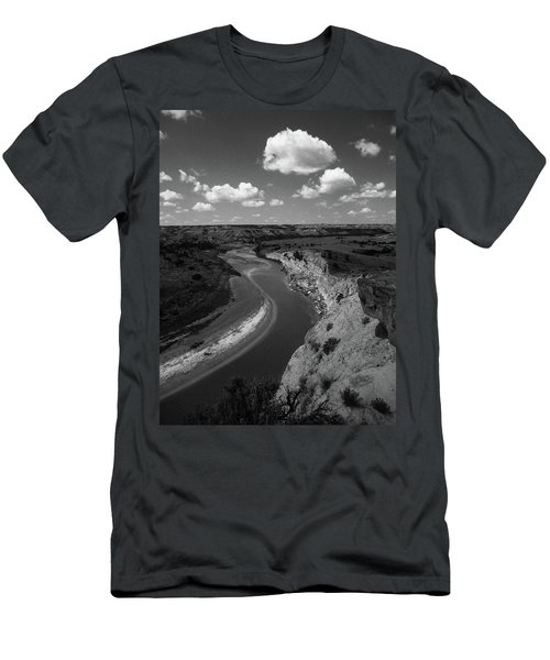 Badlands, North Dakota Men's T-Shirt (Slim Fit) by Art Shimamura