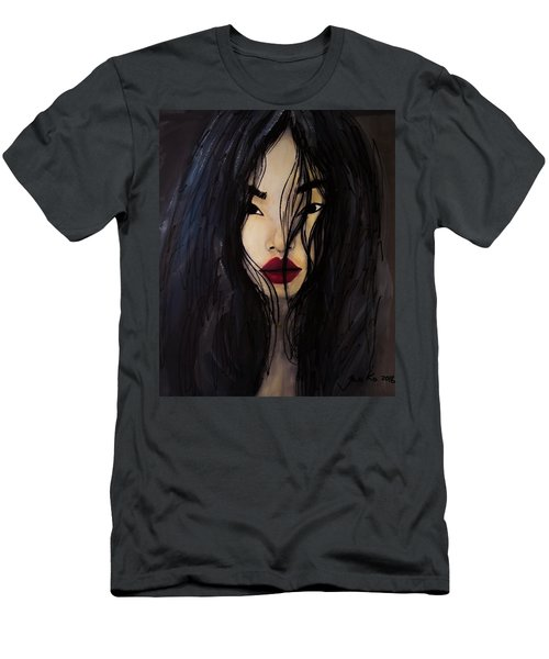 Men's T-Shirt (Slim Fit) featuring the painting Bae Yoon Young At Backstage by Jarko Aka Lui Grande