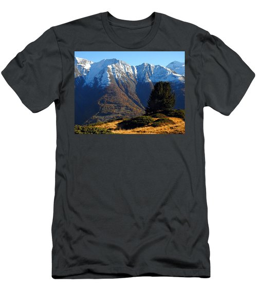 Baettlihorn In Valais, Switzerland Men's T-Shirt (Athletic Fit)