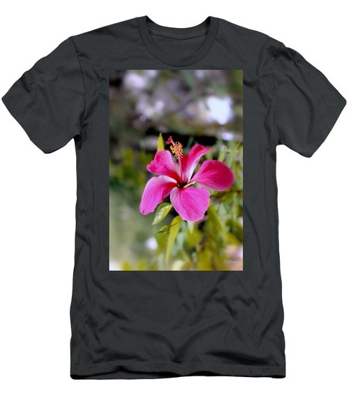 Bahamian Flower Men's T-Shirt (Athletic Fit)