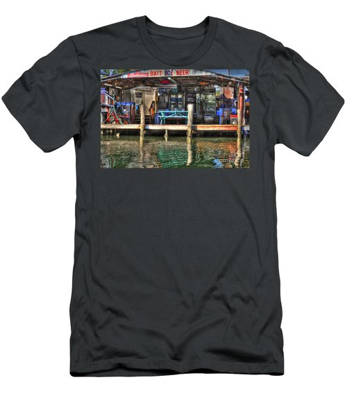 Bait Ice  Beer Shop On Bay Men's T-Shirt (Athletic Fit)