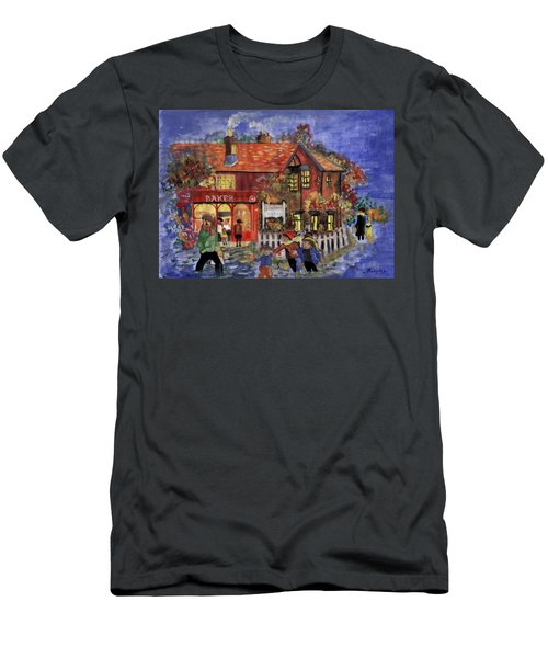 Bakers Inn Winter Holiday Landscape Men's T-Shirt (Athletic Fit)