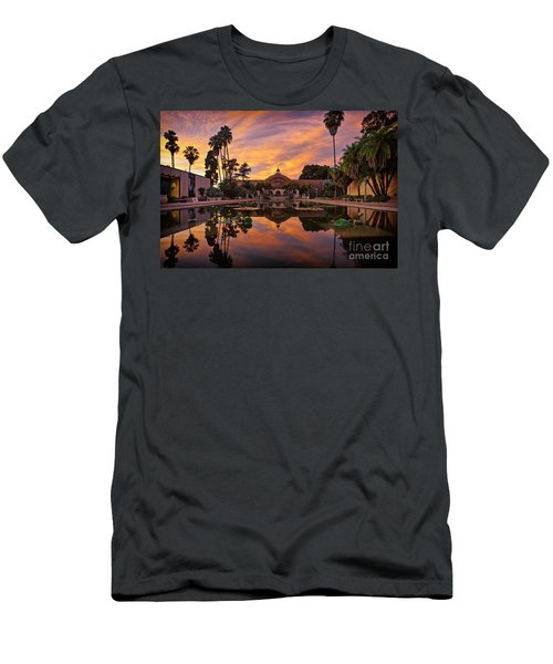 Balboa Park Botanical Building Sunset Men's T-Shirt (Athletic Fit)