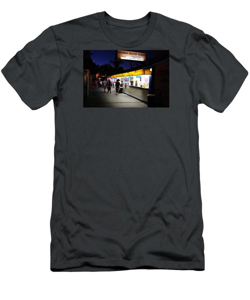 Balboa Pier Nghts Men's T-Shirt (Slim Fit) by James Kirkikis