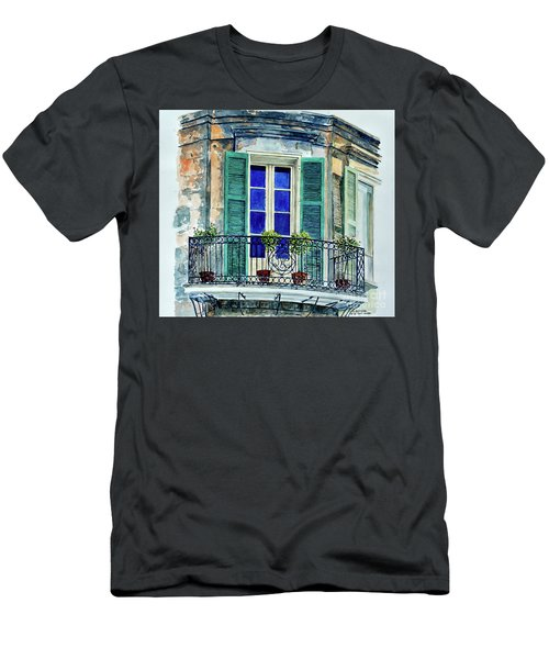 Balcony, New Orleans Men's T-Shirt (Athletic Fit)