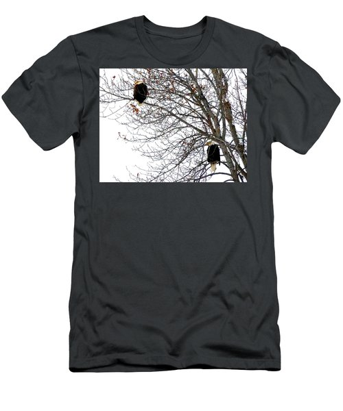 Men's T-Shirt (Slim Fit) featuring the photograph Bald Eagle Pair by Will Borden