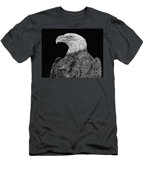 Bald Eagle Scratchboard Men's T-Shirt (Athletic Fit)