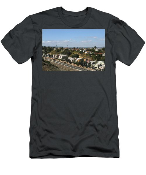Baldwin Hills Over Stocker Street  Men's T-Shirt (Athletic Fit)
