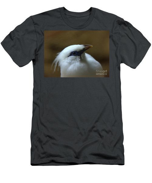 Men's T-Shirt (Slim Fit) featuring the photograph Bali Mynah by Lisa L Silva