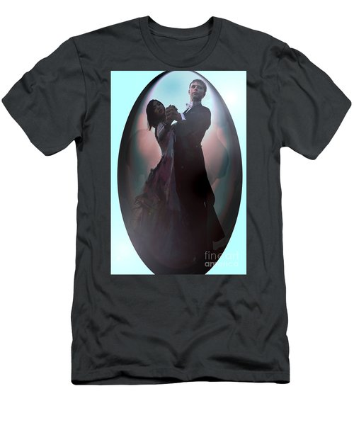 Men's T-Shirt (Slim Fit) featuring the painting Ball Room Dancer by Tbone Oliver