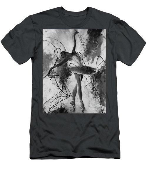 Ballerina Dance Black And White  Men's T-Shirt (Slim Fit) by Gull G