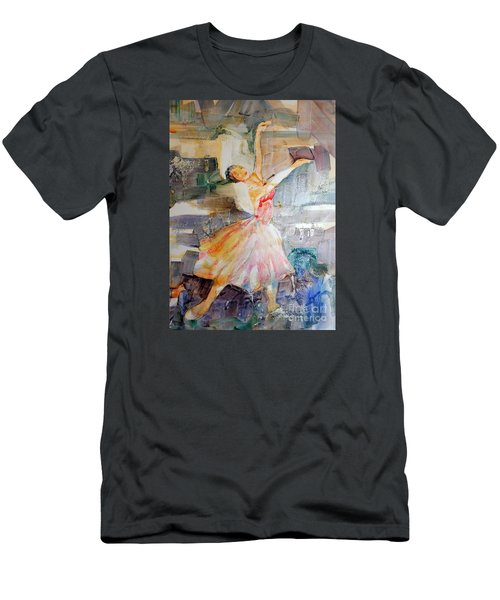 Ballerina In Motion Men's T-Shirt (Slim Fit) by Mary Haley-Rocks