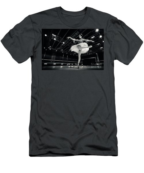 Men's T-Shirt (Athletic Fit) featuring the photograph Ballerina In The White Tutu by Dimitar Hristov
