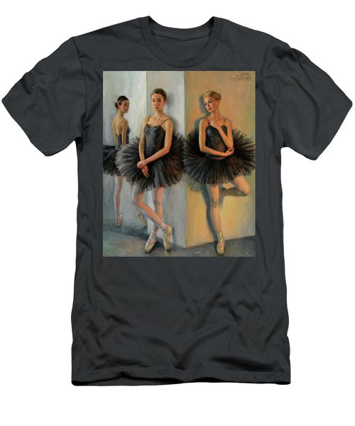 Ballerinas In Black Tutu Men's T-Shirt (Athletic Fit)