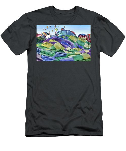 Ballooning Waves Men's T-Shirt (Athletic Fit)