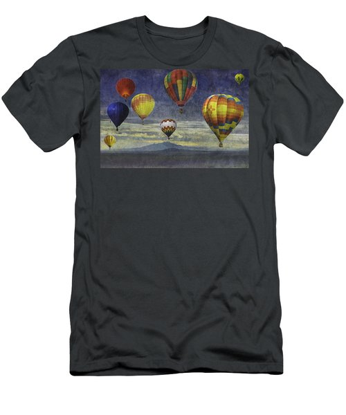 Balloons Over Sister Mountains Men's T-Shirt (Athletic Fit)