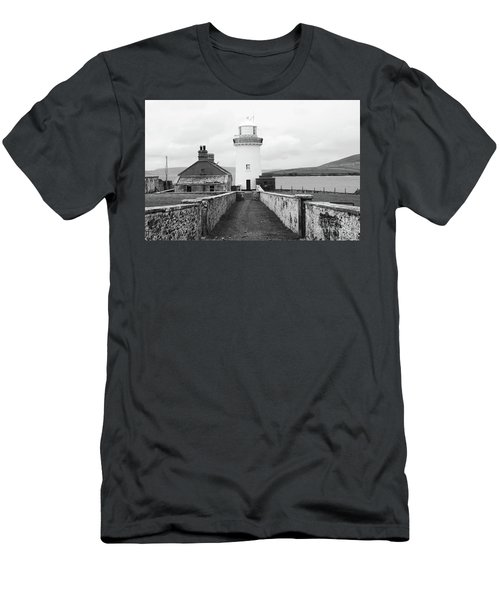 Ballyglass Lighthouse Mono Men's T-Shirt (Athletic Fit)