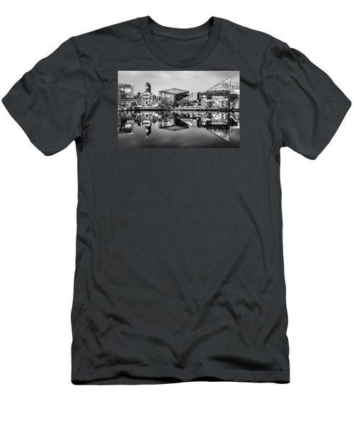 Baltimore In Black And White Men's T-Shirt (Slim Fit) by Wayne King