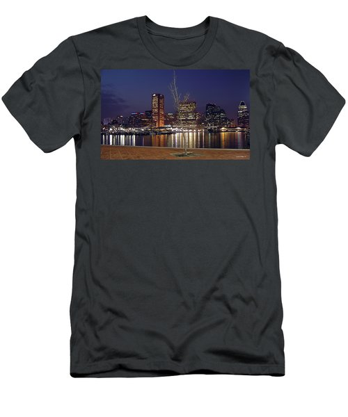 Men's T-Shirt (Slim Fit) featuring the photograph Baltimore Reflections by Brian Wallace