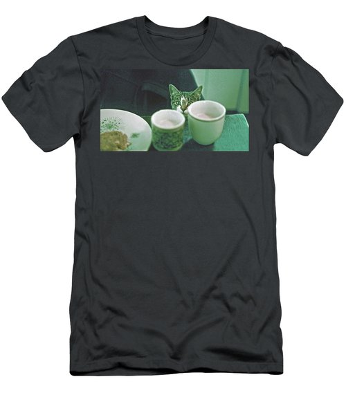 Men's T-Shirt (Slim Fit) featuring the photograph Bandit by Laurie Stewart